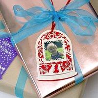 Papercut Snowglobe Photo Christmas Gift Tag