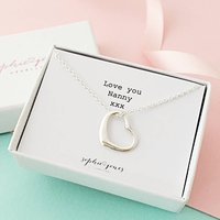 Love You Mummy Heart Necklace