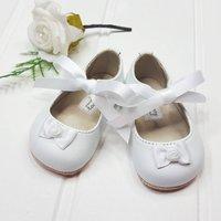 Baby Girl Handmade White Christening Pram Shoes