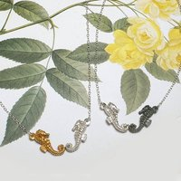 Goldplated,Silver,Oxidised Seahorses Necklace, Silver
