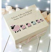 Baby Lamb Child's Wooden Keepsake Box