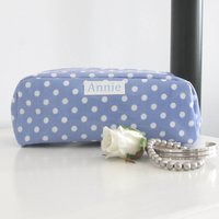 Wipe Clean Oilcloth Make Up Bag