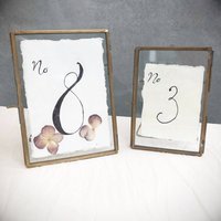 Handmade Cotton Rag Paper Torn Edges For Table Numbers