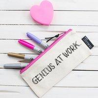 'Genius At Work' Pencil Case