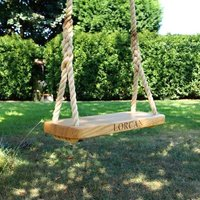Personalised Oak Childrens Rope Tree Swing