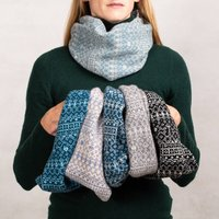 Unisex Fair Isle Knitted Snood