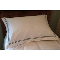 300 Tc Organic Cotton Sateen Embroidered Line Bed Linen