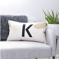 Personalised Tropical Cushion, Gold/Silver/Black