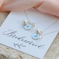 Personalised Bridesmaid Charm Necklace