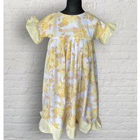 Carla Yellow Floral And Gingham Midi Dress