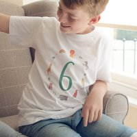 Age Six Children's Birthday T Shirt