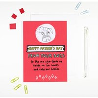 Happy Father's Day From Your Dogs Card