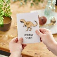 Personalised T Rex Dinosaur Card