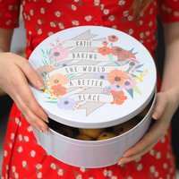 Personalised Baking The World A Better Place Cake Tin
