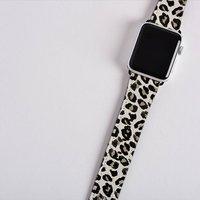 Personalised Leopard Print Apple Watch Strap