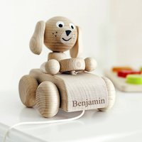 Personalised Wooden Nodding Dog