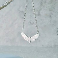 Sterling Silver Butterfly Necklace, Silver