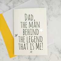 'Dad, Legend' Father's Day Card