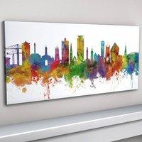 Plymouth Skyline Cityscape Art Print
