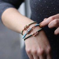 Rose Gold Milestone Link Bracelet, Gold