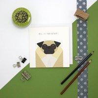 Personalised Pug Card