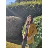 Personalised Mustard Yellow Cashmere Travel Wrap Scarf