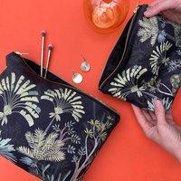 Personalised Cosmetic Bag Black Jungle Design