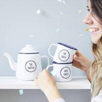 Enamel Personalised Teapot