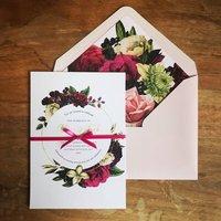 Retro Roses Wedding Stationery