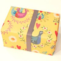 Folk Art Gift Wrap Two Sheets