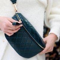 Quilted Leather Crossbody Handbag