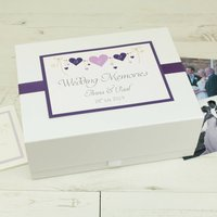 Personalised Heart String Wedding Memory Box