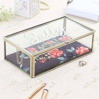 Personalised Rose Blooms Bridesmaid Jewellery Box Gift