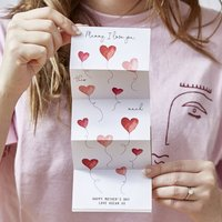 Personalised I Love You This Much Card