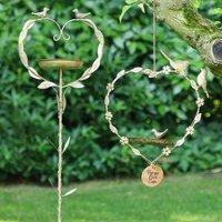 Love Birds Garden Bird Feeder Gift Set