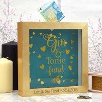Gin And Tonic Fund Money Box Gift