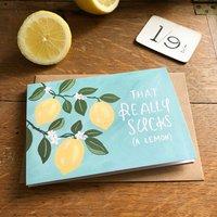 Hand Illustrated Lemon Sorry Card