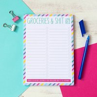 Funny Grocery Shopping Notepad