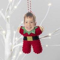 Personalised Elf Christmas Tree Decoration