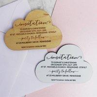 Personalised Christening Cloud Magnet Invitation