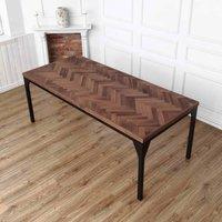 Waterloo Walnut Herringbone Solid Wood Dining Table