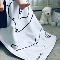 Personalised Rianna Phillips Design Polar Bear Blanket