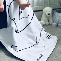 Personalised Rianna Phillips Design Polar Bear Blanket