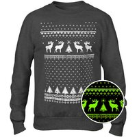 Glow In The Dark Festive Reindeer Sweatshirt