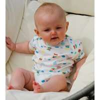 Unisex Yellow Bee Themed Baby Bodysuit Two Pack Set