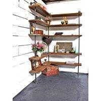 Malin Reclaimed Scaffolding Board Corner Shelves