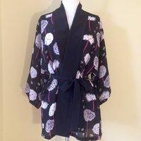 Floral Print Silk Kimonos And Kaftan