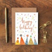 Happy Birthday Hats Greeting Card