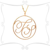9ct Solid Gold Monogram Pendant, Gold