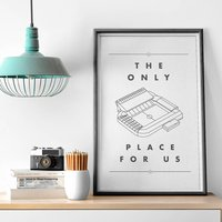 'Only Place For Us' Football Stadium Print